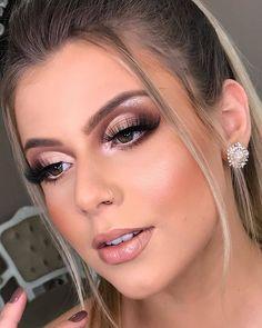 Inspirational Wedding Makeup Looks Indian Glam Makeup Look, Pretty Makeup, Simple Makeup, Beauty Makeup, Hair Beauty, Airbrush Makeup, Makeup Dupes, Eyeshadow Makeup, Wedding Hair And Makeup