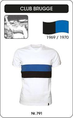 Club Brugge voetbalshirt seizoen 1969/1970 (Winnaar beker van België) blauw zwart retro voetbal truitje football soccer vintage sport COPA