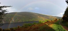 A perfect day in Ireland. Complete with sheep and rainbow. Lough Dan, County Wicklow, Ireland - Imgur