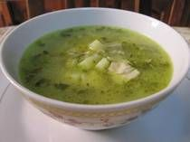 Super easy potato and herb soup. I like to throw in some leftover chicken.