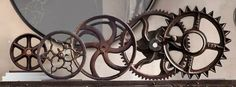 These gears remind me of mechanical lessons my dad tried to give me when I was a kid. In fact, I hope he will make me some book ends out of gears. I'd better start collecting!