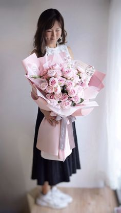 Pink Flower Bouquet, Silk Flowers, Gift Bouquet, Luxury Flowers, Floral, Gifts, Presents, Flowers, Favors