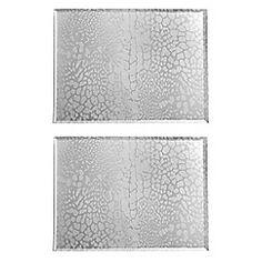Star by Julien Macdonald Set of four silver glitter