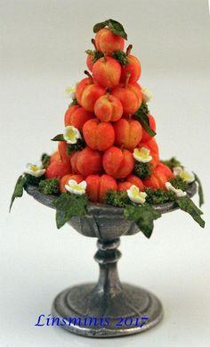 12th Scale Miniature ** Peach Pyramid **...IGMA Fellow #Linsminis