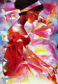Träumende by Ira Tsantekidou. (Serie Light and Shadow). Paris Kunst, Paris Art, Contemporary Artists, Modern Art, Art Parisien, Local Painters, Art Web, Surrealism Painting, Greek Art