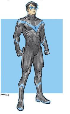 Nightwing by Brandon Peterson Superhero Superman, Superhero Characters, Dc Comics Characters, Batman Suit, Teen Titans, Comic Books Art, Comic Art, Nightwing Wallpaper, Comic Character