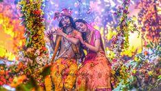 Radhakrishn in madhuban❤️ Radha Krishna Songs, Radha Krishna Love Quotes, Cute Krishna, Radha Krishna Pictures, Krishna Photos, Krishna Art, Radha Kishan, Shree Krishna Wallpapers, Krishna Statue
