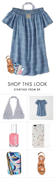 """""""pll is so good omg"""" by ellienoonan ❤ liked on Polyvore featuring Abercrombie & Fitch, Essie, Kate Spade, Lilly Pulitzer, Steve Madden and Lord & Taylor"""