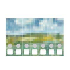 Ordnerrücken Pixel van Gogh 7-tlg.