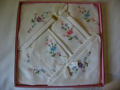 how to display vintage hankies - Google Search