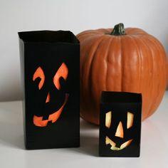 Milk Carton Halloween Luminaries!