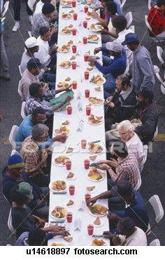 Everyone deserves Christmas Dinner..Homeless being fed.