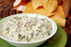 Creamy Spinach Dip (she said don't substitute for the real mayonnaise but I prefer the extra zing that Miracle Whip gives this recipe)