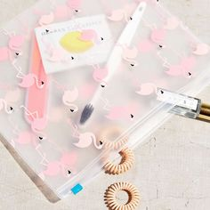 UO Flamingo Cosmetics Pouch by Urban Outfitters | Spring - Free Shipping. On Everything.