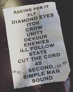 Via Zach: mind the sharpie. 1st time in 6 years #Shinedown
