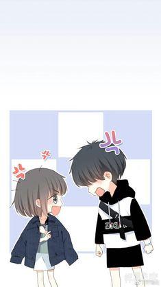 Love Never Fails Manga Anime Neko, Kawaii Anime, Chibi Kawaii, Cute Chibi Couple, Cute Couple Art, Anime Love Couple, Anime Couples Drawings, Anime Couples Manga, Cute Anime Couples