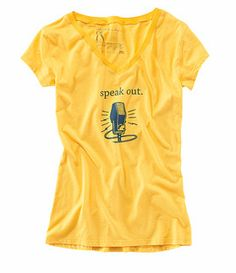 Speak out! New v-neck style tee available exclusively at @Beth Rubin Slagle nine.