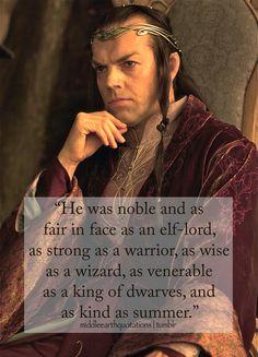 Description of Elrond, The Hobbit, A Short Rest