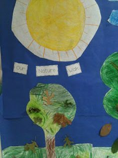 Kindergarten nature walk mural!