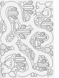 Actividades para niños preescolar, primaria e inicial. Fichas para imprimir en las que tienes que completar los dibujos y colorearlos para niños de preescolar y primaria. Completar y Colorear. 61