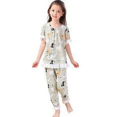 Good quality and love the pattern on the material. MORE different colors and size+++ sets +++CNMUDONSI Sleepwear For Baby Toddler Girls Cotton 2 Piece. Girls Summer Outfits, Summer Girls, Kids Girls, Girl Outfits, Toddler Girls, Summer Pajamas, Girls Pajamas, Cotton Pyjamas, Baby & Toddler Clothing