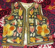 Vintage Superb Afghan Hand MadeHand Embroidered Vest by becocooned, $60.00