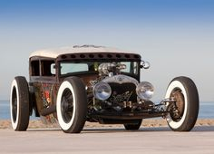 This is a Model A sedan we bought and had fixed for Sailor Jerry Rum. #hotrod #ratrod #tudor