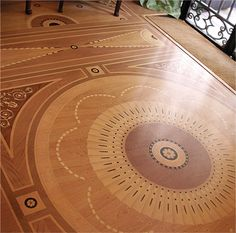This is digitally imaged flooring is from Imago Floors. It looks like intricate late-18th century parquet. The 3/4″-thick, engineered-wood flooring is finished with multi-coat UV-cured resins. It comes with a 15-year guarantee. Parquet floor tiles are $25.50 to $35.50 per square foot. From Classical Addiction Blog