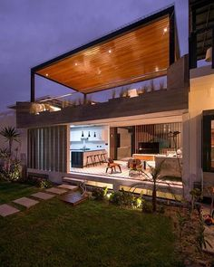Container House - S House by Romo Arquitectos in Lima, Peru - Who Else Wants Simple Step-By-Step Plans To Design And Build A Container Home From Scratch? Storage Container Homes, Building A Container Home, Container House Plans, Shipping Container Homes, Container Buildings, Converted Shipping Containers, Rooftop Terrace Design, Rooftop Patio, Casas Containers