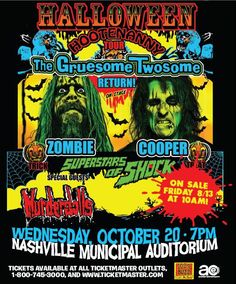 Rob Zombie, Alice Cooper, Murderdolls (2010) Rob Zombie came down on the floor right beside us!!!