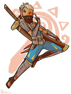 katribou:  finally started hyrule warriors as i got it for xmas… had to draw impa bc she's just so… cool
