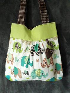 m29m / bavlnená taška sloníková Diaper Bag, Bags, Fashion, Handbags, Moda, Fashion Styles, Diaper Bags, Mothers Bag, Fashion Illustrations