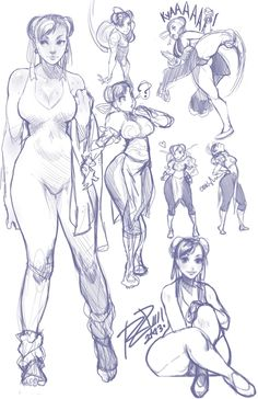 ? alternate_costume boots breasts china_dress chinese_clothes chun-li cleavage double_bun earrings hair_ribbon highres jewelry kicking monochrome pantyhose ribbon robaato sketch solo street_fighter street_fighter_iv sweat thick_thighs thighs unitard