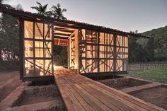 'a hut to hut prototype' by rintala eggertsson architects, kumta, india