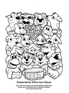 Slapshot's 2012 birthday party coloring page http://www.keystonemascots.com