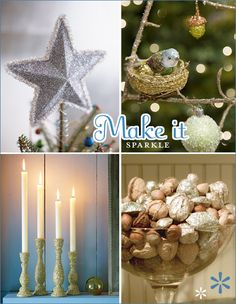 #Christmas #Crafts #DIY - things you can add glitter to