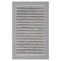 Lakeshore Stripe Rug, Grey/Navy