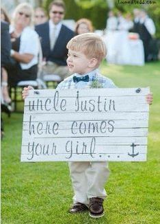 "cute alternative to flower girl ""uncle jason"""