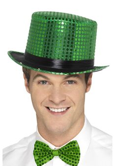 This St Patrick's Day your kiss will be guaranteed with our colourful Sequin Top Hat in bright green! Top Hats For Women, Six Nations Rugby, Fancy Dress Hats, Halloween Costume Accessories, Bowler Hat, Hats For Sale, Christmas Costumes, Sequin Top, Amazing Women