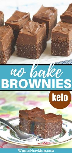 Need a healthy dessert in a flash? How about some Healthy Gluten-free Brownies? These Easy No Bake Brownies are raw, paleo, and dairy free, and so good! Whip up a batch (or of these Raw Brownies and satisfy your chocolate cravings without guilt! Healthy Fudge, Healthy Brownies, Gluten Free Brownies, Healthy Sweets, Healthy Baking, Raw Brownies, No Bake Brownies, Paleo Dessert, Dessert Recipes