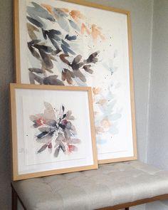 Stunning watercolors in our Marin frame. | Via @kellyventuradesign