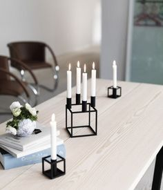 Line Candleholder Black by Lassen - I need those 2 small ones too!