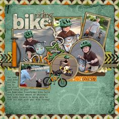Image result for bike riding scrapbooking