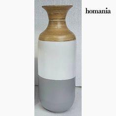 Vaso di bambù grigio e bianco by Homania Homania 39,62 € https://shoppaclic.com/centrotavola-e-vasi/10644-vaso-di-bambù-grigio-e-bianco-by-homania-7569000901869.html