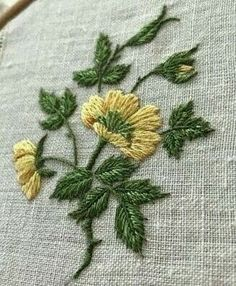Marvelous Crewel Embroidery Long Short Soft Shading In Colors Ideas. Enchanting Crewel Embroidery Long Short Soft Shading In Colors Ideas. Border Embroidery Designs, Floral Embroidery Patterns, Crewel Embroidery, Embroidery Thread, Embroidered Flowers, Brazilian Embroidery, Sewing Art, Embroidery Techniques, Needlework