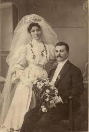 Edwardian bride and groom