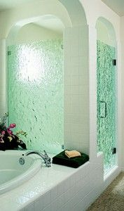 Bathroom shower update -pretty glass