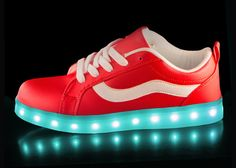 Light Up Shoes - Red Spectral side view