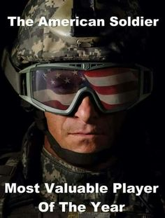 Our Military HEROES should be paid and treated better than politicians, the entertainment industry, and people playing sports. Our REAL HEROES are our Military! I Love America, God Bless America, Gi Joe, Military Love, Military Quotes, Military Humor, Military Personnel, Army Quotes, Military Pictures