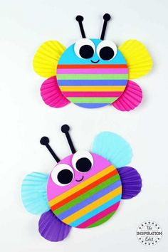 Chunky Rainbow Butterfly Craft For Kids- Lori Knight- # pre-school . Chunky Rainbow Butterfly Craft For Kids- Lori Knight- # pre-school . Spring Crafts For Kids, Fun Crafts For Kids, Diy For Kids, Craft Kids, Children Crafts, Quick Crafts, Craft Work, Crafts For Preschoolers, Animal Crafts For Kids